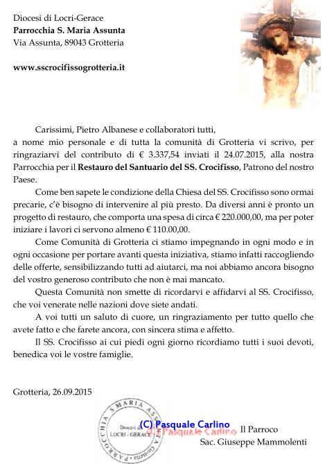 Carissimi, Pietro Albanese e collaboratori tutti...